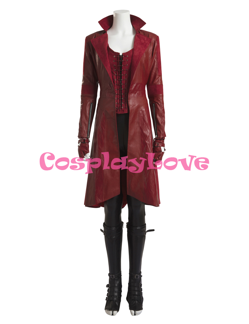 Updated Version Civil War Wanda Maximoff Scarlet Witch Cosplay Costume Captain America Season 3 cos for Halloween Party