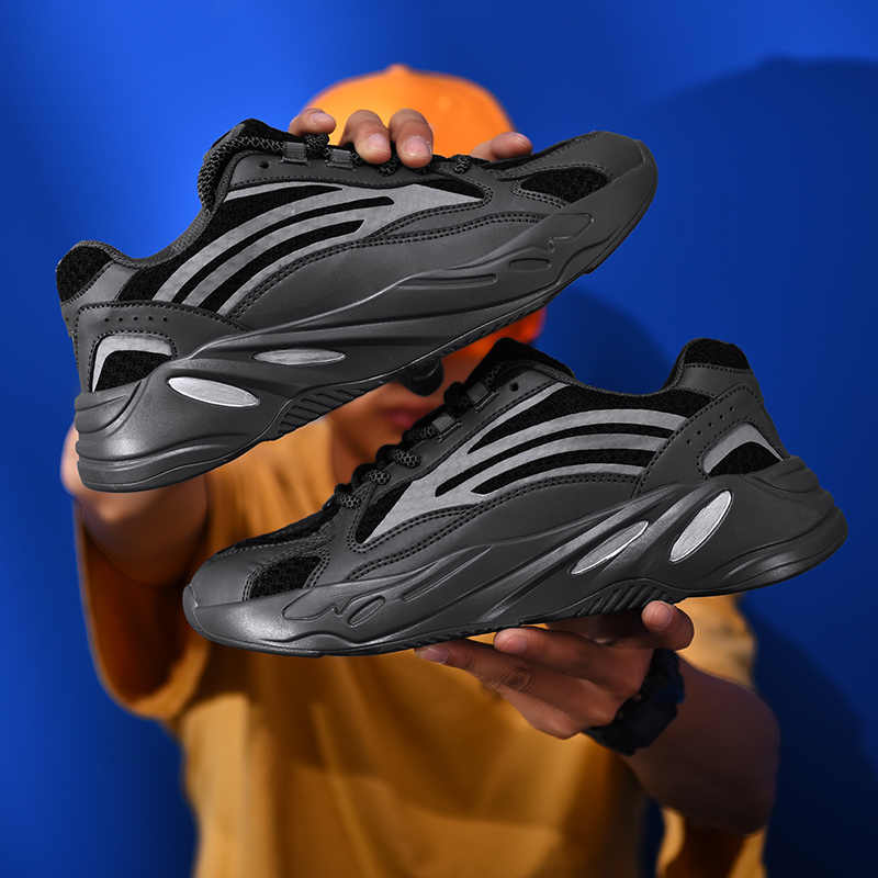 Yaz kaliteli domuz süet + örgü gündelik ayakkabı erkek ayakkabısı erkek yürüyüş marka rahat kaymaz ayakkabı ayakkabı
