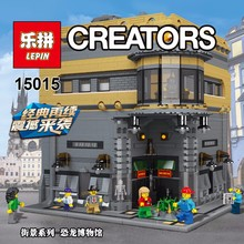 2016 New LEPIN 15015 5003pcs City Creator The dinosaur museum Model Building Kits Minifigure Brick Toy  Compatible Toys Gift