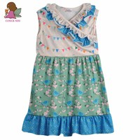 CONICE NINI Brand Girls Clothes Baby Kids Clothing Floral Print Cotton Summer Dress Boutique Remake Cute