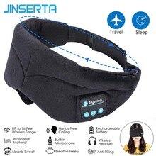 JINSERTA Bluetooth Kopfhörer Schlafen Augen Maske Wireless Music Bluetooth Schlaf Eye Shades Headset Unterstützung Freisprecheinrichtung Waschbar