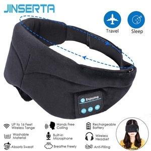 Image 1 - JINSERTA Bluetooth casque sommeil oeil masque sans fil musique Bluetooth sommeil yeux nuances casque Support mains libres lavable