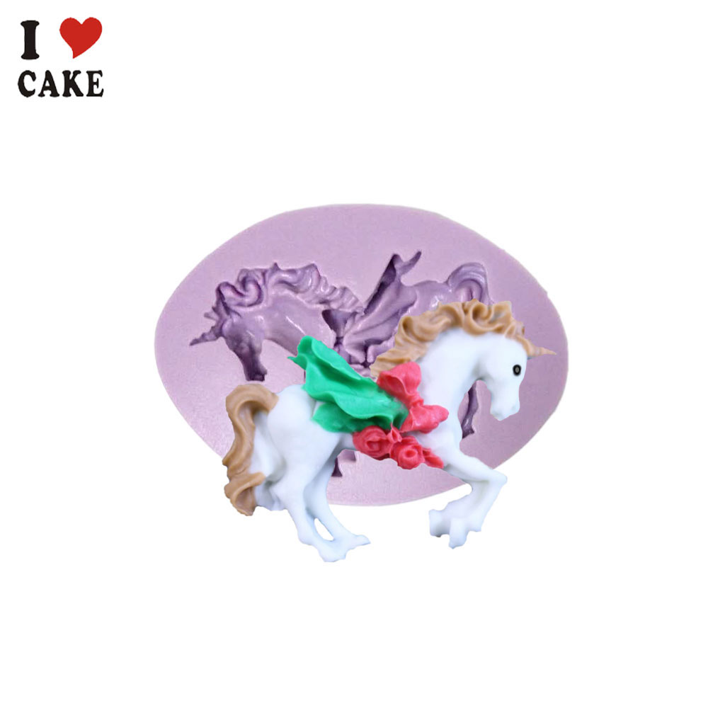 New Hot Selling Carousel Horse Silicone Fondant Mold Cake Decor Chocolate Paste Gum Baking Mould Free Shipping from I CAKE MOLD