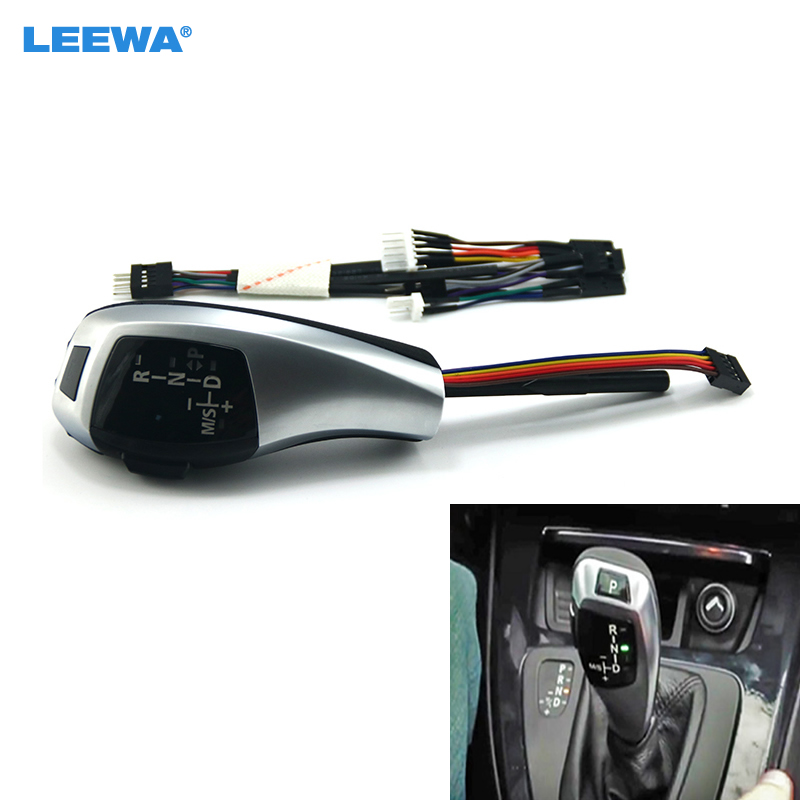 LEEWA Upgrade To LHD LED Electronic Gear Shift Knob For BMW E39 4D Facelifted/E39 5D Facelifted/E53 Facelifted #CA5813