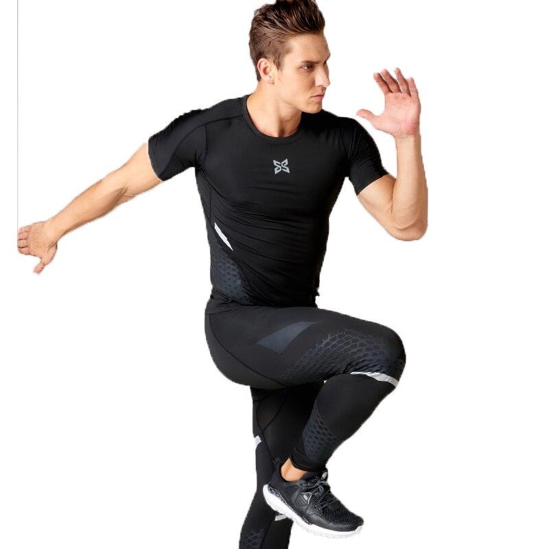 the best attitude c5048 d9772 US $34.88 |Männer trainingskleidung stretch quick dry kompression  strumpfhosen sport running suits fitness basketball jerseys reflektierende  outfit in ...
