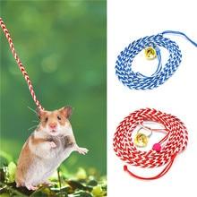 Nylon rope Pet hamster Collars small pet Leash squirrel Guinea pig Chinchilla ferret rabbit collars leashes Supplies
