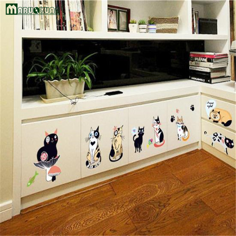Maruoxuan Colorful Personality Wall Stickers Children s Room Dress Up Cabinets Bedside Background Decoration Decals