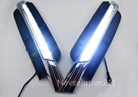 2PCS/ set 0.5W 2W LED Auto DRL Daytime Driving Running Light Waterproof For Audi A6 C7 2012 2013 2014 2015 Car Styling