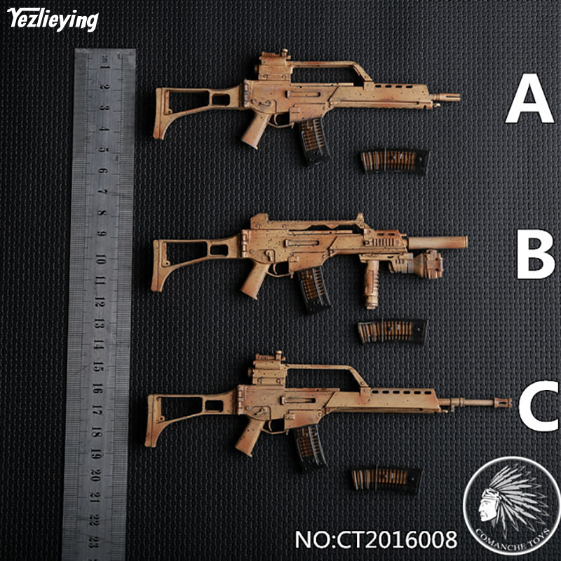 1/6 Scale Soldier Military Accessories German G36 Rifle Gun Model CT2016008 A/B/C Fit 12assembly Action Figure DIY Weapon Toys 1 6 scale 4d assembling qsz92 pistol model gun weapon mode kids toys for 12 action figure accessories collectible gifts e