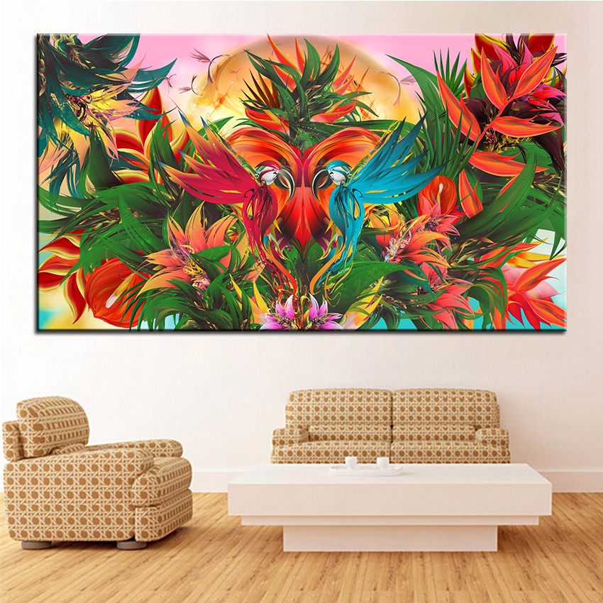 Us 3 49 50 Off Large Size Printing Oil Painting Jungle Wall Painting Decor Wall Art Picture For Living Room Painting No Frame In Painting
