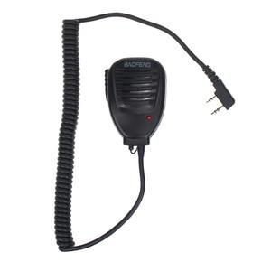Image 1 - Оригинальная портативная рация Baofeng 888S с микрофоном, портативный ручной микрофон PTT для Baofeng