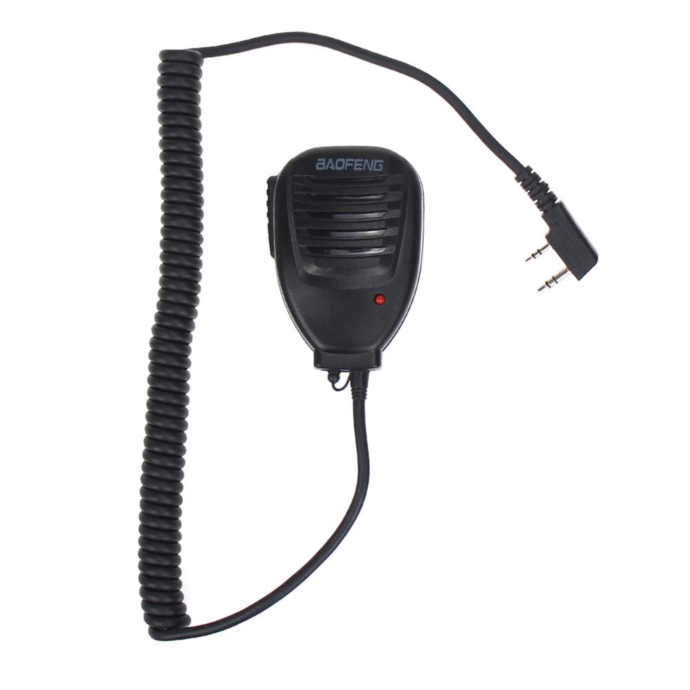 Original Baofeng 888S Walkie Talkie Speaker Mic Portable Handheld Microphone PTT For Baofeng UV-5R UV-5RE UV-5RA Plus UV-6R