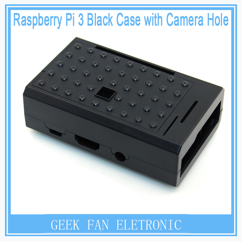 New Pi Case For Raspberry Pi ABS Black Shell Case Support Camera installing Cover Case For Raspberry Pi 3&2&B plus RP0011B