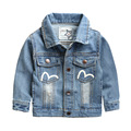 kids jackets for boys girls 2017 new baby girl jackets solid jackets for girls long sleeve spring single breasted denim jacket