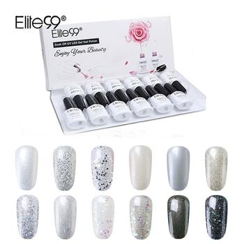 Elite99 10 ml Glitter Farbe Gel Nagellack Mit Geschenk Box 12 teile/los Nude Gel Nägel Lack Semi Permanant UV gel Für Nail art