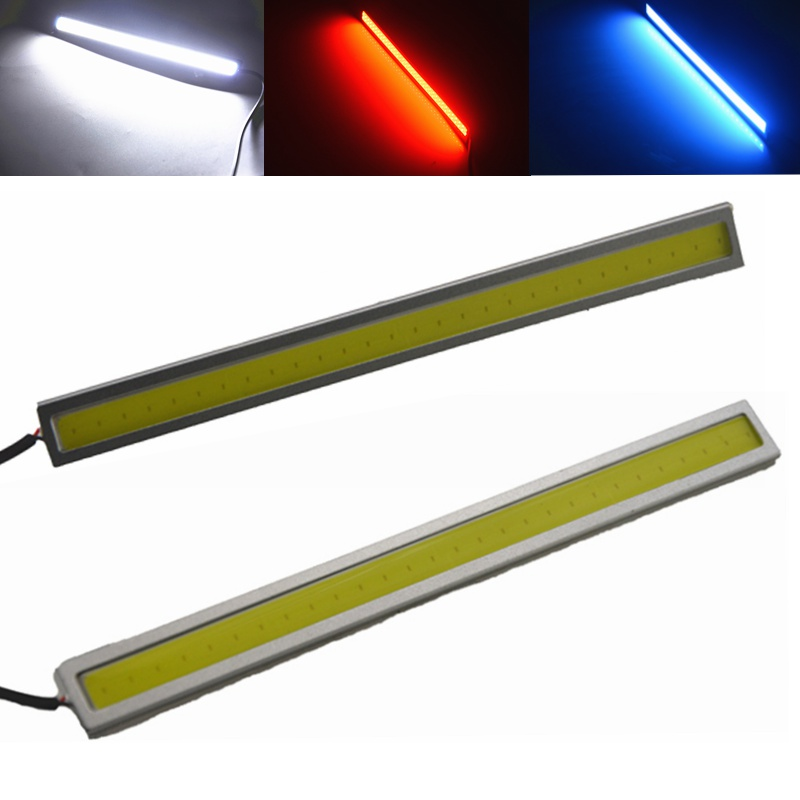 Universal 17cm COB DRL LED Daytime Running Light Auto Lamp External Lights For Car 100% Waterproo Car Styling White Red Blue