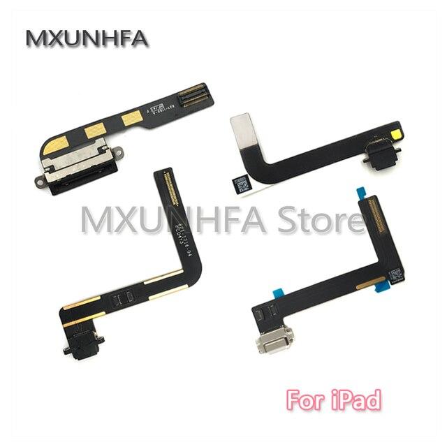 Nuevo puerto de carga del cargador USB conector de base de datos Flex Cable cinta para iPad 2/3/4 5 6 aire 2 Mini 1 2 3 4 piezas de repuesto
