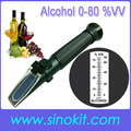 Wholesales Cheap 0-80% V V Alcohol concentration Plastic Refractometer  P-RHV-80ATC