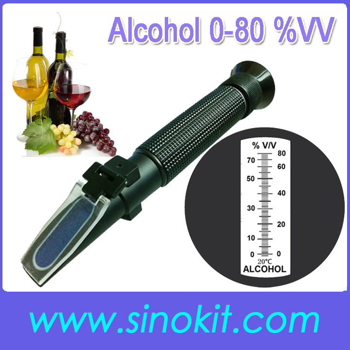 Wholesales Cheap 0-80% V V Alcohol concentration Plastic Refractometer P-RHV-80ATC image