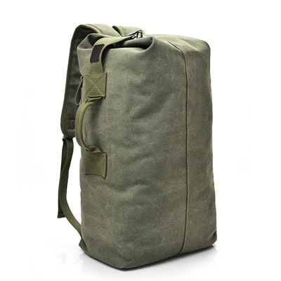 Fashion Large-capacity Travel Backpack Outdoor Travel Sports Bag Men's Canvas Bag Solid colorLuggage Organizer G 6
