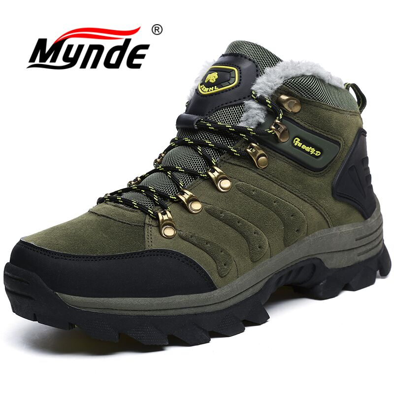 Mynde Men Winter Boots Fur Warm Snow Boots Men Shoes Adult Casual Work Safety Unisex Sneakers Ankle Boot Rubber Men Boot 46 47 недорго, оригинальная цена