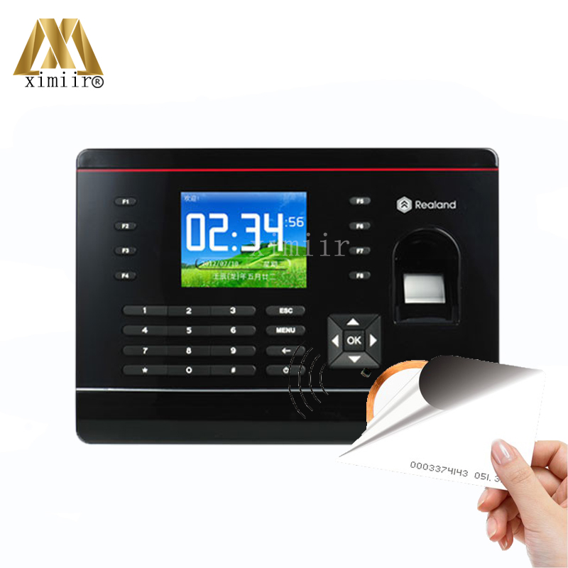 Good Quality Fingerprint And RFID Card Time Attendance Fingerprint Time Recording Time Clock With TCP/IP Communication A C061