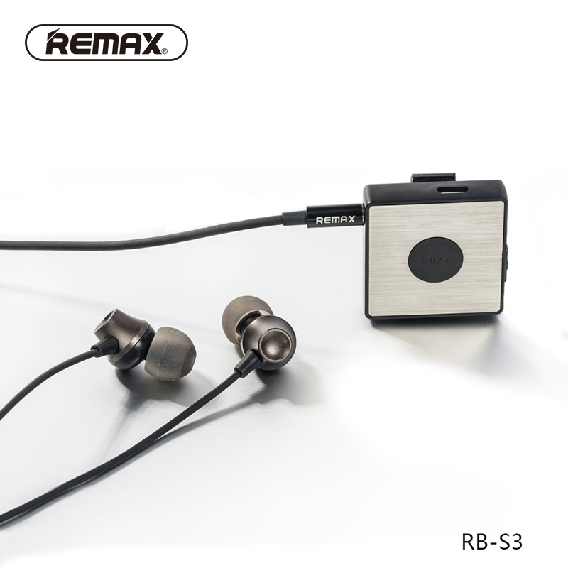 REMAX Clip-on Bluetooth Headset Wired&wireless Sport Running FM Stereo Audio Earphone Car Speaker with HD mic for iphone6/xiaomi 2017 scomas i7 mini bluetooth earbud wireless invisible headphones headset with mic stereo bluetooth earphone for iphone android