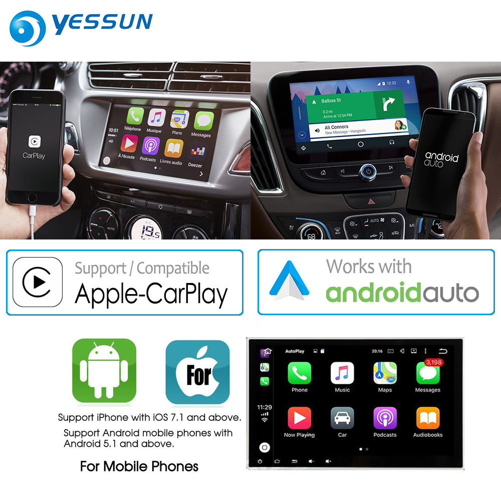 YESSUN For Apple iOS Carplay Android Car Radio Stereo head unit USB cable for iPhone and Android auto Smartphone USB Dongle