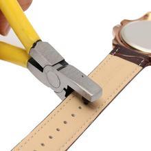 2,0 мм универсальный ремешок для часов с кожаным ремешком, инструмент для пробивания, желтый маленький дырокол, плоскогубцы, инструменты для домашнего магазина