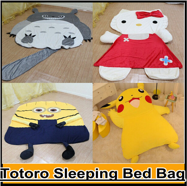 us 164 0 large cartoon totoro sleeping bed bag holster pikachu kitty cushion cover despicable me 2 minion sofa bed mattress cover tatami in mattress