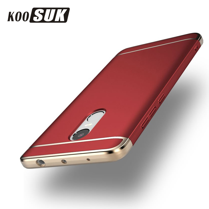 Fashion New Protector Cover für Xiaomi Redmi Note 4 3 Back Case 3 in 1 vergoldeten Rahmen Phone Case für Redmi Note4 Note3 Shell