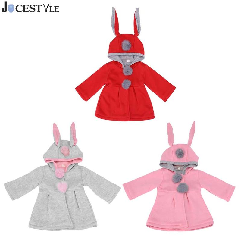 419cb8c97 Cute Rabbit Ear Hooded Baby Girls Coat Tops Kids Warm Jacket Outerwear  Children Clothing Baby Wear Girl Coats ~ Best Deal June 2019