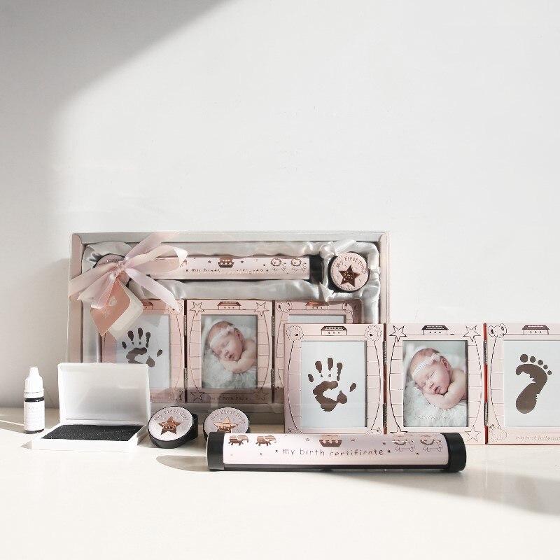Cadre photo photo cadre cadeau naissance papier tube Curl boîte dent boîte set décoratif photo fram bébé naissance mémorial cadeaux