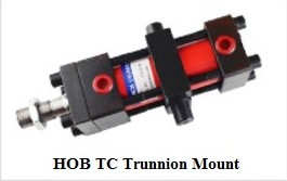 Hydraulic oil cylinder with 14MPA HOB80X100TC with trunnion mount tie rod hydraulic oil cylinder with 14mpa hob40x200cb with double ear