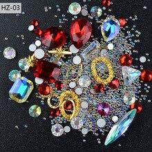 New Nail Jewelry Diamond with Sharp Bottom Profile Transparent AB Crystal Glass