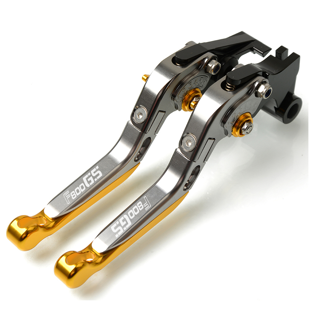 CNC Aluminum Motorcycle Brake Clutch Lever Adjustable Extendable Levers FOR BMW F800GS F800 Adventure ADV F 800 GS 2008 2016 in Levers Ropes Cables from Automobiles Motorcycles