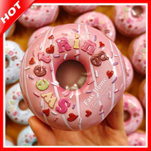 Sweet Ring Novelty Donut Tin Box Gift Candy Storage Seal Box Wedding Favor Metal Tin Box Jewelry Pill Cases Portable Container