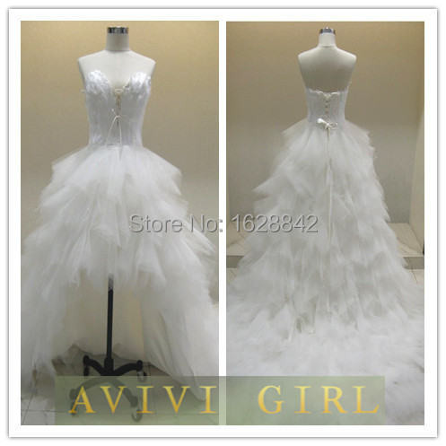Free shipping white feathers wedding dress bride bridal for White feather wedding dress