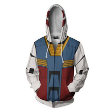 MOBILE SUIT GUNDAM Costumes GUNDAM Sweatshirts Cosplay 3D Printed Zip Sweatshirt Fashion Cartoon Hooded Sweater Jackets