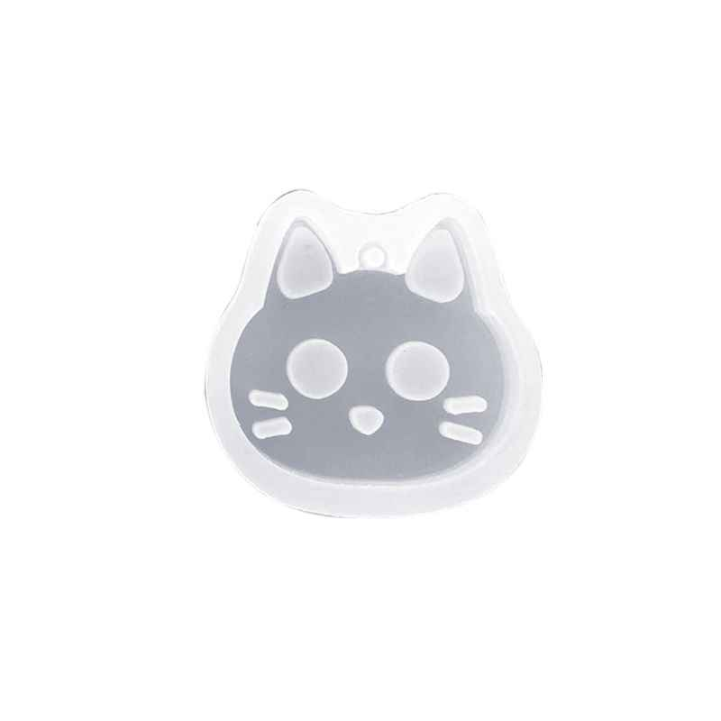UV Epoxy Resin Clay Mold Cat Rabbit Cartoon Animal Model DIY Craft Making Accessories Pendant Jewelry Mould