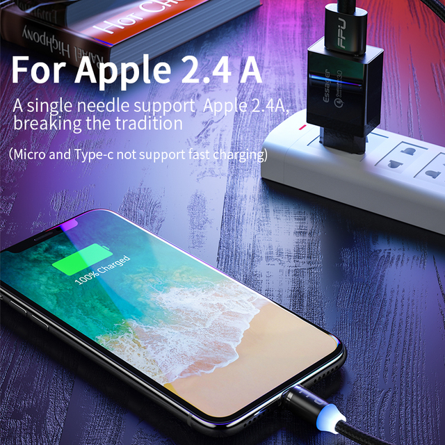 FPU 3m Magnetic Micro USB Cable For iPhone Samsung Android Mobile Phone Fast Charging USB Type C Cable Magnet Charger Wire Cord 4