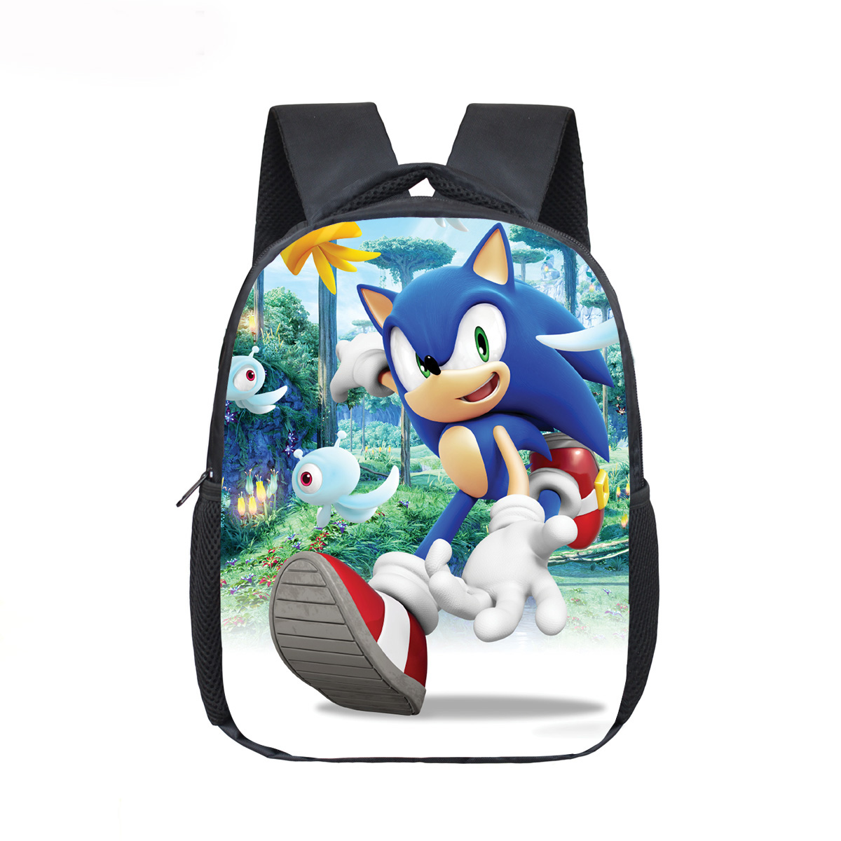 12 Inch Mario Bros Sonic Boom Hedgehogs Kindergarten School Bags Bookbags Children Baby Toddler Bag Kids Backpack