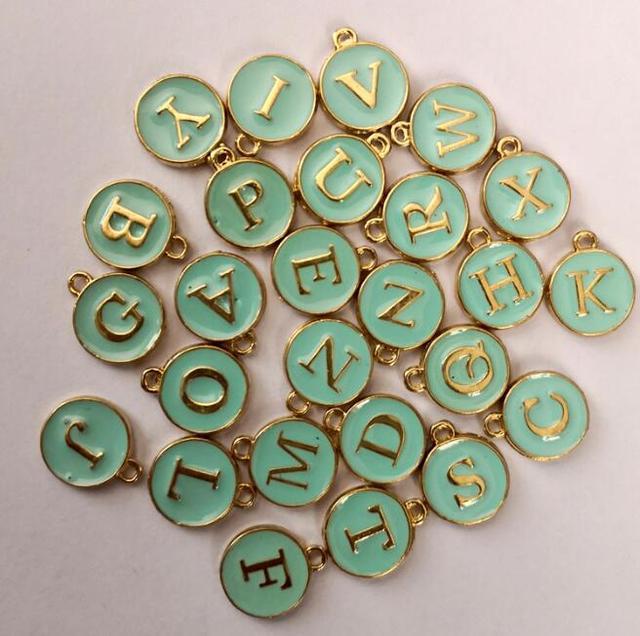 15mm Tibetan Alloy Letter Alphabet Pendants Jewellery Beading Craft 26 Pcs