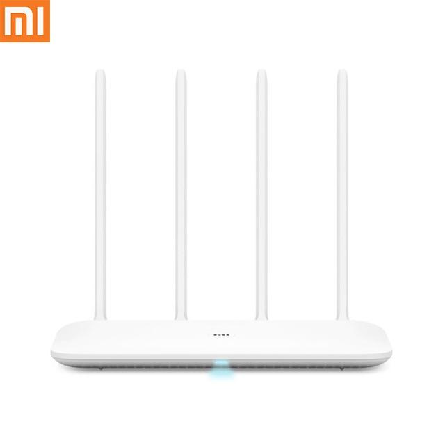 Original Xiaomi mi Router WiFi 4 WiFi repetidor 2,4G 5 GHz 128 MB DDR3-1200 de banda Dual Core 880 MHz inalámbrico de Control del Router