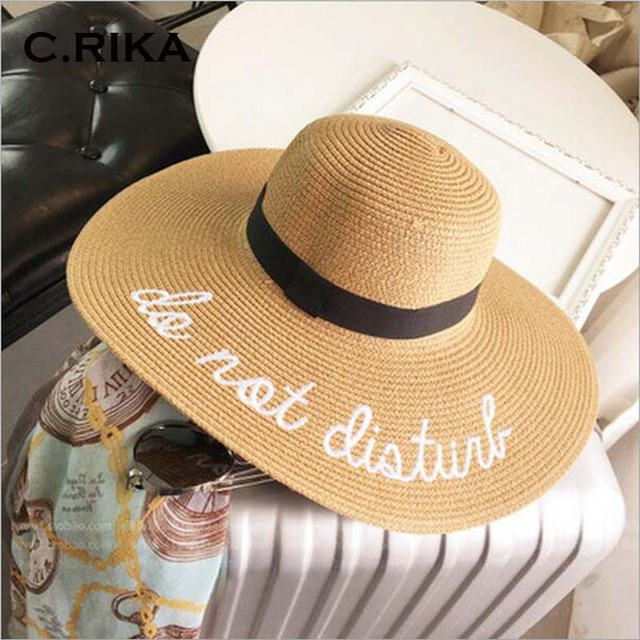 0a58197ae84 2017 New Summer Women Sun Hat Ladies Wide Brim Straw Hats Foldable Beach  Panama Hats Church Hat Bone Chapeu Feminino
