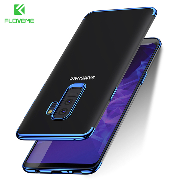 uk availability b0039 cfd52 US $3.99 20% OFF|FLOVEME Plated Case For Samsung Galaxy S9 Plus S9 Bag  Cases Cool Transparent TPU Shockproof Cover For Samsung S9 S8 Plus Fundas  -in ...