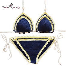 Handmade Sexy Crochet Bikini Set Women Crocheted Swimsuit Brazilian Biquini Beach Swimwear Bathing Suit Maillot De