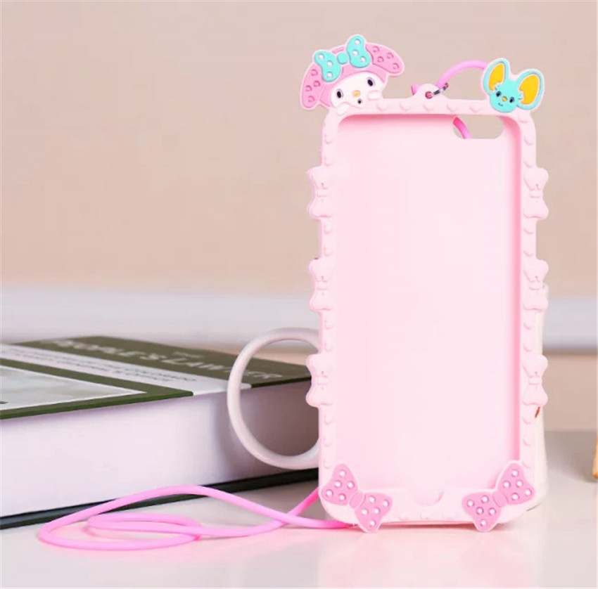 321ee298c Lovely 3D Cartoon Hello kitty My Melody Bow Pink Capa Soft Silicone Phone  Case For iPhone X XS Max XR 8 7 Plus 5 S SE 6 6S 6Plus-in Fitted Cases from  ...