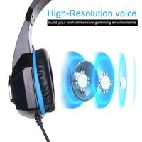 one pc Gaming אוזניות סטריאופוניות מעל האוזן בס Heaphone עם מיקרופון 7 אור LED עבור PC PS4 Xbox One + 7 לחצנים 5500DPI Gaming Mouse משחק עכברים (3)