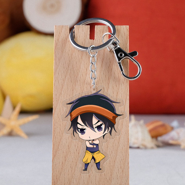 Anime JOJO Bizarre Adventure Keychain Cartoon Figure Acrylic Pendent Keyring 5
